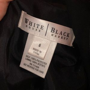 WHBM black dress sheer top fit flare 6